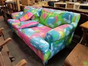 Sale 8566 - Lot 1176 - Contemporary Hand Painted Sofa by Cement Fondue