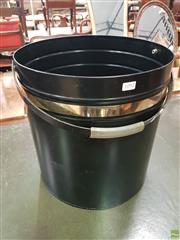 Sale 8601 - Lot 1092 - Black Metal Handled Firewood Pail