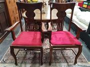 Sale 8676 - Lot 1084 - Set of 6 Timber Dining Chairs