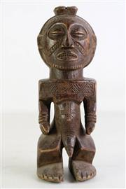 Sale 8994 - Lot 55 - Small African Carved Timber Statue H: 29cm