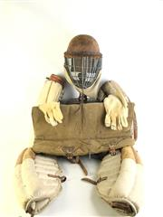 Sale 8977 - Lot 55 - A Collection of Vintage Combat (Possibly Kendo) Protective Equipment