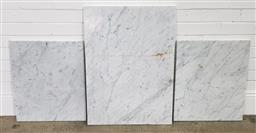 Sale 9210 - Lot 1025 - Pair of square marble pieces with rectangular example (pair - 63 x 52cm; single - 84 x 62cm)