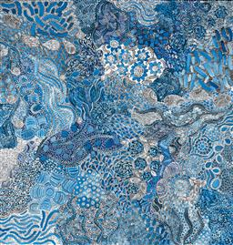 Sale 9239A - Lot 5038 - KAREN BIRD NGALE (1984 - ) - Awelye 200 x 190 cm (stretched and ready to hang)
