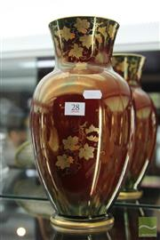 Sale 8226 - Lot 28 - Crown Devon Rouge Royale Vase
