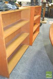 Sale 8272 - Lot 1070 - Pair of Open Bookshelves