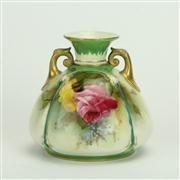 Sale 8393B - Lot 58 - Royal Worcester Roses Vase