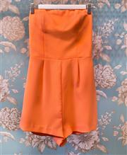 Sale 8474A - Lot 18 - A retro style Kookai strapless playsuit in fluro orange, great condition, size 38