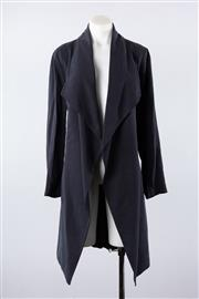 Sale 8760F - Lot 106 - A Sportscraft unstructured navy jacket with waist-tie, size 12