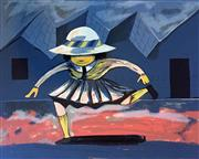 Sale 8859A - Lot 5020 - Charles Blackman (1928 - 2018) - Schoolgirl Jumping (Blackman Schoolgirls Series) 75 x 106cm