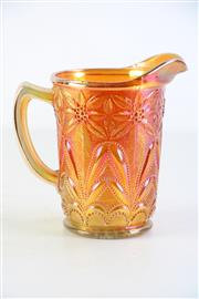 Sale 8957C - Lot 609 - Imperial Poinsettia marigold carnival glass milk pitcher (H16cm)
