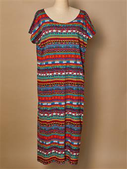 Sale 9093F - Lot 68 - A Jenny Key Collectable iconic Sydney print T shirt dress with belt, Size L  (in excellent vintage condition)