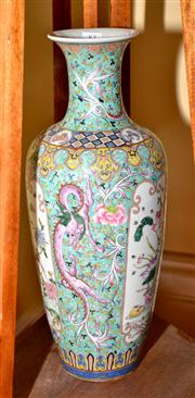 Sale 7997 - Lot 83 - A FINE TALL FAMILLE ROSE VASE, PAINTED DRAGONS, BIRDS & FLOWERS, QINGH: 48 CM