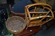 Sale 8013 - Lot 1267 - Cane Magazine Rack And Tray