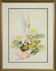 Sale 8113A - Lot 37 - Charles Newman (XX) - Fairy & Butterfly, 1987 45 x 33cm