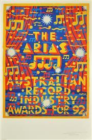 Sale 8256S - Lot 3 - Martin Sharp (1942 - 2013) - The ARIA Awards, 1992 62 x 46.5cm