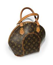 Sale 8406A - Lot 49 - Vintage French Louis Vuitton Ellipse clamshell shaped hand bag, overall size without straps 27 x 32 cm