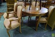 Sale 8550 - Lot 1521 - French Style 7 Piece Dining Suite