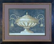 Sale 8562A - Lot 147 - A decorative print of a classical lidded urn in fancy gilt frame, total size H 85 x W 105cm