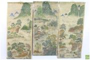 Sale 8621 - Lot 27 - Set of Three Chinese Scrolls Depicting Landscapes