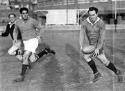 Sale 8754A - Lot 96 - The Wallabies, 1949 - Colin Windon training before Test Match 16 x 21cm