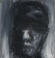 Sale 8927 - Lot 2007 - Anthony Griffis Blindfolded Man oil on canvas 30.5x 30.5cm, signed verso -