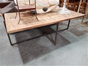 Sale 8904 - Lot 1066 - Modern Timber Top Coffee Table (H: 45 L: 134 W: 70cm)