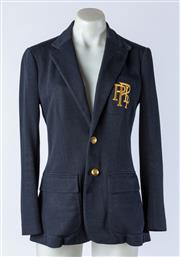 Sale 9003F - Lot 86 - A Polo Ralph Lauren Ladies Riding Blazer with embroided pocket, & Gold Buttons. Navy  Size 4