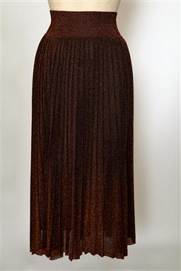 Sale 9095F - Lot 62 - A Scanlan Theodore long pleated skirt in bronze metallics, size S.