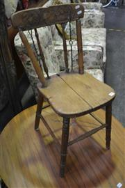 Sale 8161 - Lot 1042 - Early Australian Carved Back Timber Chair