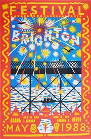 Sale 8256S - Lot 4 - Martin Sharp (1942 - 2013) - Brighton Festival, 1988 76 x 51cm