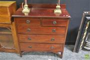 Sale 8272 - Lot 1005 - Raised Timber Chest of Five Drawers