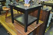 Sale 8337 - Lot 1028 - Pair of Tiered Timber Side Tables
