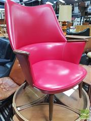 Sale 8435 - Lot 1059 - Danish Leather Tub Chair with Paddle Arms