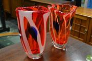 Sale 8511 - Lot 1077 - Pair of Italian Matched Art Glass Vases by Castellani