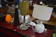 Sale 8542 - Lot 1080 - Collection of Four Varied Table Lamps