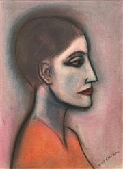 Sale 8665 - Lot 529 - Robert Dickerson (1924 - 2015) - Woman in Profile 37.5 x 27.5cm