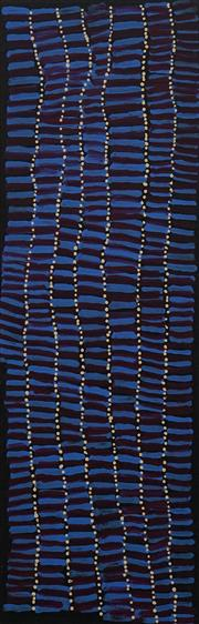 Sale 8683A - Lot 5126 - Lena Pwerle (c1920 - ) - Bush Plum Dreaming, 2003 91.5 x 31.5cm (stretched and ready to hang)