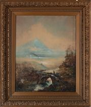 Sale 8818A - Lot 29 - BW A DonnellyDRI Lakeside BridgeDR watercolourR 62 x 50R signed and dated LL 1904, foxing to top