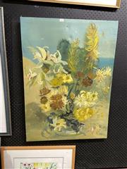 Sale 8891 - Lot 2071 - Ang Foa - Green Orchids oil on canvas, 88.5 x 64cm, signed lower right
