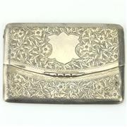 Sale 8332 - Lot 28 - English Hallmarked Sterling Silver Edward VII Calling Card Case