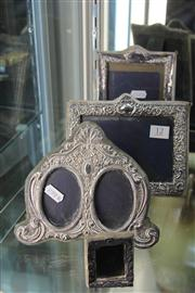 Sale 8327 - Lot 12 - English Hallmarked Sterling Silver Photo Frames