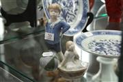 Sale 8348 - Lot 70 - Royal Copenhagen Figure of a Boy with a Ball & Another of Thumbelina
