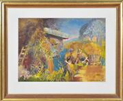 Sale 8374 - Lot 584 - Vincent Brown (1901 - 2001) - The Farmers 36.5 x 50.5cm