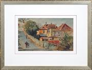 Sale 8422T - Lot 2027 - Terence (John) Santry (1910 - 1990) - Terrace Houses 23.5 x 39cm