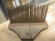 Sale 8451B - Lot 19 - C18th French Wool Comb, in cast iron and oak