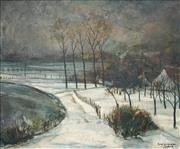 Sale 8475 - Lot 596 - Rene de Graeve (1901 - 1957) - Winterscape, 1938 44 x 53cm