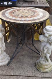 Sale 8550 - Lot 1353 - Mosaic Tiled Top Outdoor Table