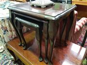 Sale 8589 - Lot 1063 - Queen Anne Style Nest of Three Tables