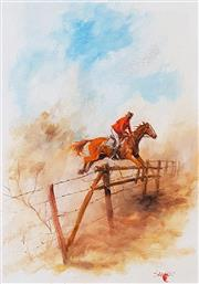 Sale 8695A - Lot 5010 - Hugh Sawrey (1919 - 1999) - In the Stable 41 x 29cm