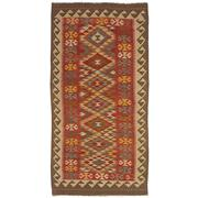 Sale 8830C - Lot 39 - An Afghan Nomadic Maymana Kelim in Handspun Wool 197x102 cm